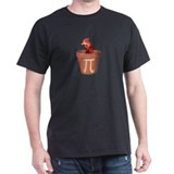 Chicken Pot Pi Black T-Shirt