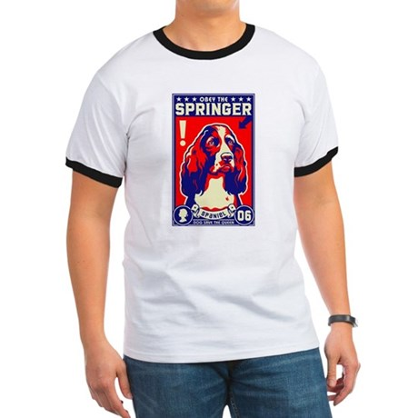 Obey the SPRINGER Spaniel! Ringer T
