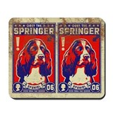 Obey the SPRINGER Spaniel! Vintage Mousepad