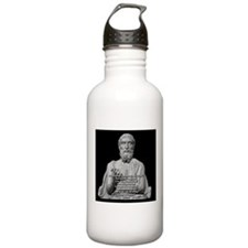 Epicurus God Quote Sports Water Bottle