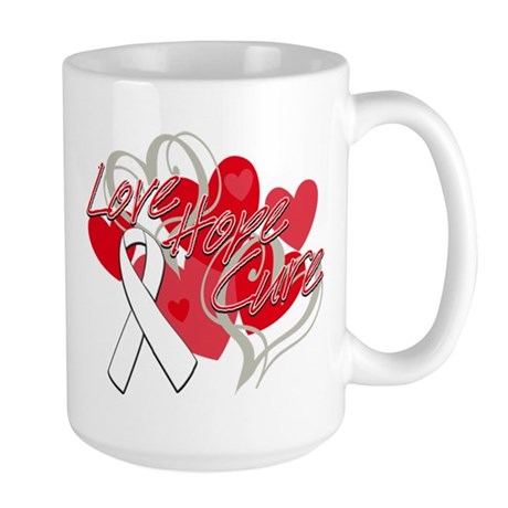Bone Cancer Love Hope Cure Large Mug