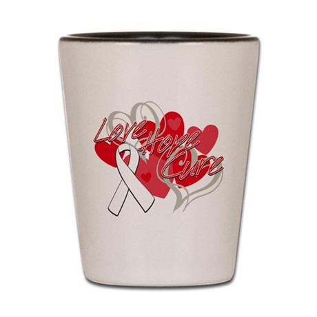 Bone Cancer Love Hope Cure Shot Glass