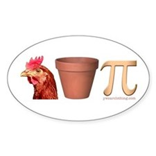 Chicken Pot Pi Oval Bumper Stickers