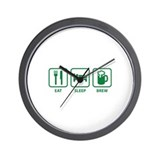 Eat Sleep Brew Wall Clock