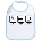 Eat Sleep Code Bib