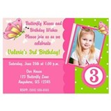 Butterfly Kiss Birthday Invitation Invitations