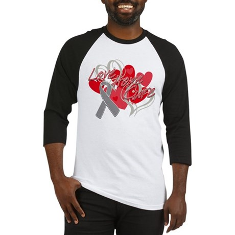 Brain Cancer Love Hope Cure Baseball Jersey