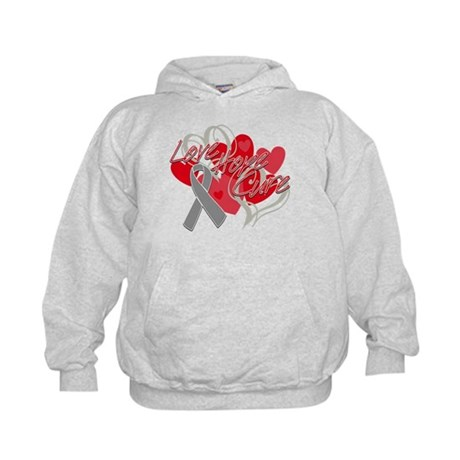Brain Cancer Love Hope Cure Kids Hoodie