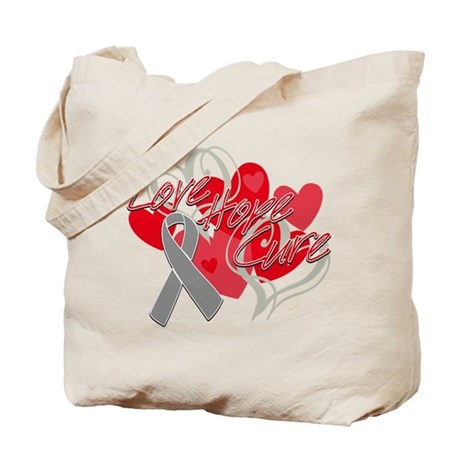 Brain Cancer Love Hope Cure Tote Bag