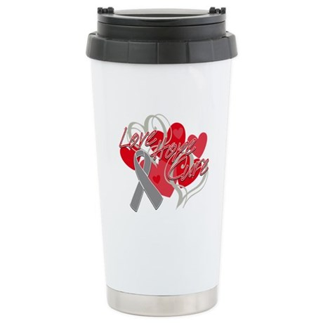 Brain Cancer Love Hope Cure Ceramic Travel Mug