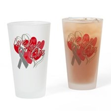 Brain Cancer Love Hope Cure Drinking Glass
