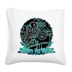 BMX,born to ride. Square Canvas Pillow