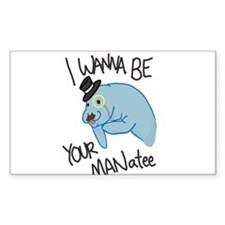 MANatee Black Decal