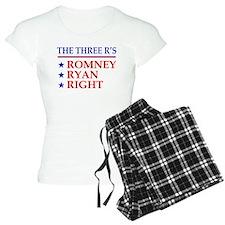 Three R's Romney Ryan Right Pajamas