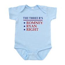 Three R's Romney Ryan Right Infant Bodysuit