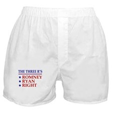 Three R's Romney Ryan Right Boxer Shorts