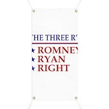 Three R's Romney Ryan Right Banner