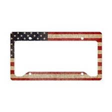 US Faded Flag License Plate Holder