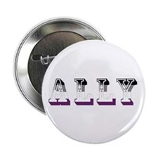 "Asexuality Ally Text 2.25"" Button"