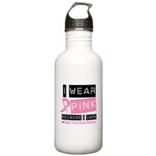 Pink I Care Breast Cancer Water Bottle