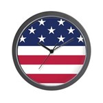 US Flag Wall Clock