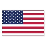 US Flag Sticker (Rectangle)