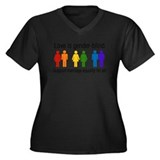 Marriage Equality Women's Plus Size V-Neck Dark T-