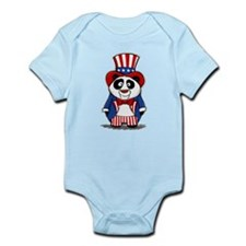 Patriotic Panda Infant Bodysuit