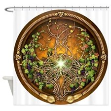 Sacred Celtic Trees - Vine Shower Curtain