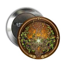 "Sacred Celtic Trees - Vine 2.25"" Button (10 pack)"