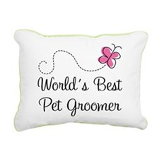 Pet Groomer (Worlds Best) Rectangular Canvas Pillo