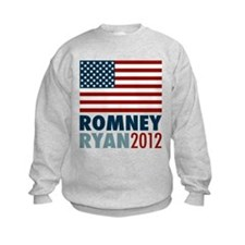 Romney Ryan 2012 American Flag Sweatshirt