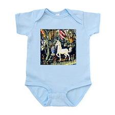 William Morris Unicorn Infant Bodysuit