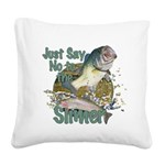 Bass not slimers Square Canvas Pillow