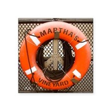 "Marthas Vineyard Square Sticker 3"" x 3"""
