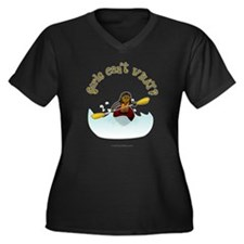 Dark Kayaking Women's Plus Size V-Neck Dark T-Shir