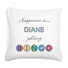 Diane Square Canvas Pillow