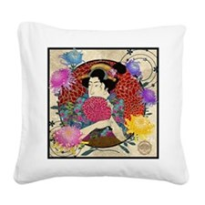 Kiku Square Canvas Pillow