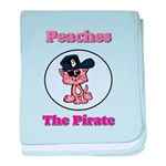 Peaches the Pirate.png baby blanket