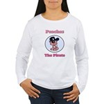 Peaches the Pirate.png Women's Long Sleeve T-Shirt