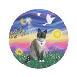 Twilight - Snow Shoe cat Ornament (Round)