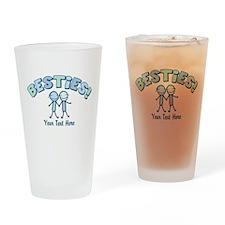 CUSTOM TEXT Besties Drinking Glass