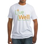 Live Well Network Logo Fitted T-Shirt