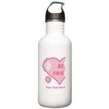 CUSTOM TEXT Best Friends Split Heart Water Bottle