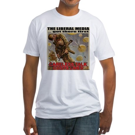 "Liberal Media ""Careless Talk"" Fitted T-Shirt"