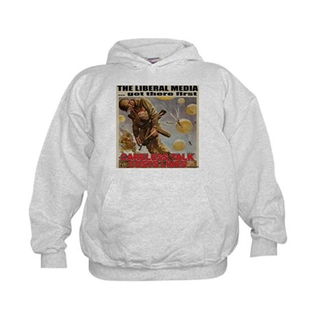 "Liberal Media ""Careless Talk"" Kids Hoodie"