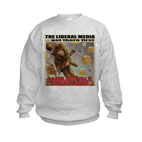 "Liberal Media ""Careless Talk"" Kids Sweatshirt"