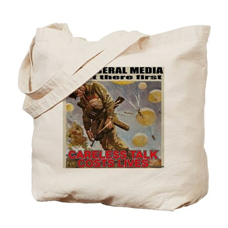 "Liberal Media ""Careless Talk"" Tote Bag"