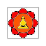 Sitting Lotus Square Sticker 3