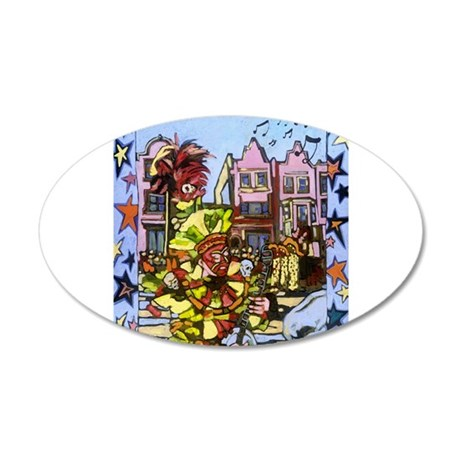 Philadelphia Mummers Parade 20x12 Oval Wall Decal